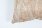 Beige & White Brindle Pillow Cover