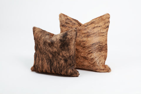 Brown Brindle Pillow Cover