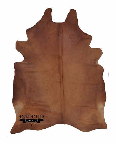 Solid Brown Cowhide