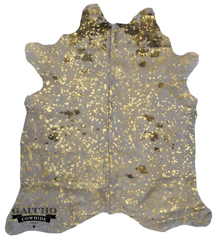 Golden Metallic Devore Cowhide