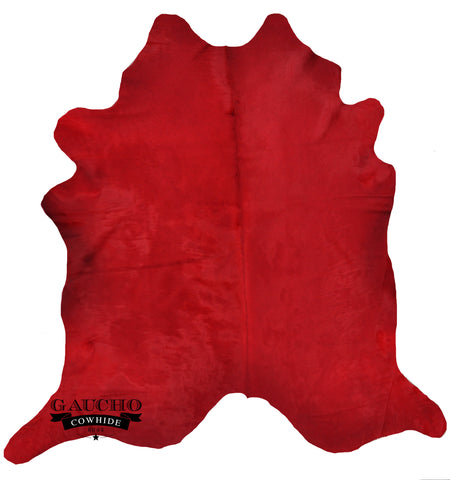 Gorgeous Solid Red Dyed Cowhide