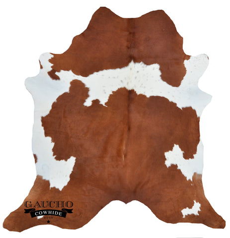 Traditional Brown & White Cowhide