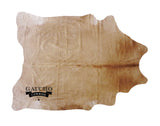Solid Beige Honey Cowhide