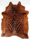 Brown & Black Zebra Cowhide
