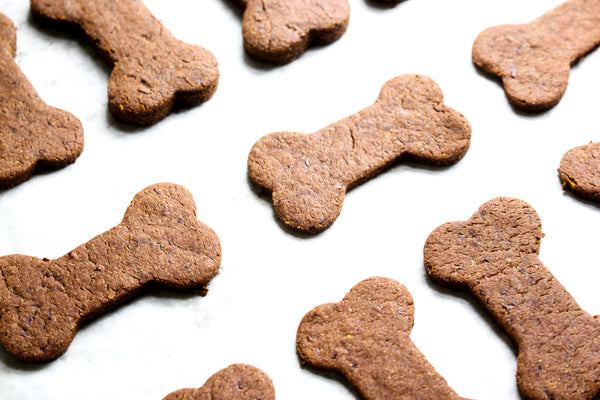 Carob Peanut Butter Dog Biscuits