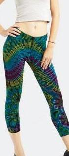 Cropped Tie-Dye Leggings
