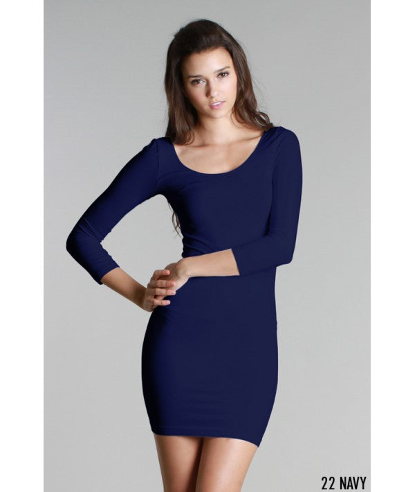 NikiBiki 3/4 Sleeve Scoop Neck Dress