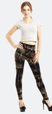 Black & Brown Tie-Dye Leggings