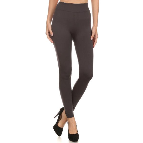 Fleece Lined Ankle Leggings - Normal Waist