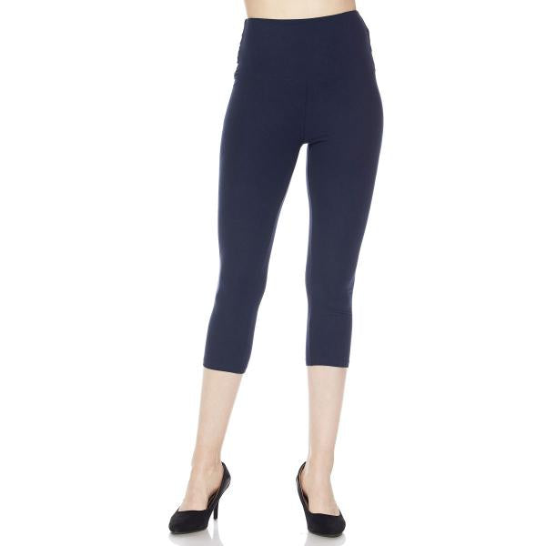 Brushed Fiber Leggings - Capri Length Solids