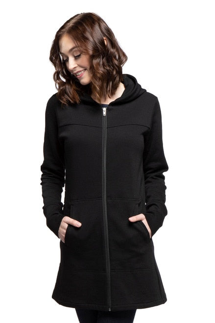 Zip Up Long Hoodie