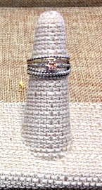 Silver Stacker Ring with Champagne Quartz