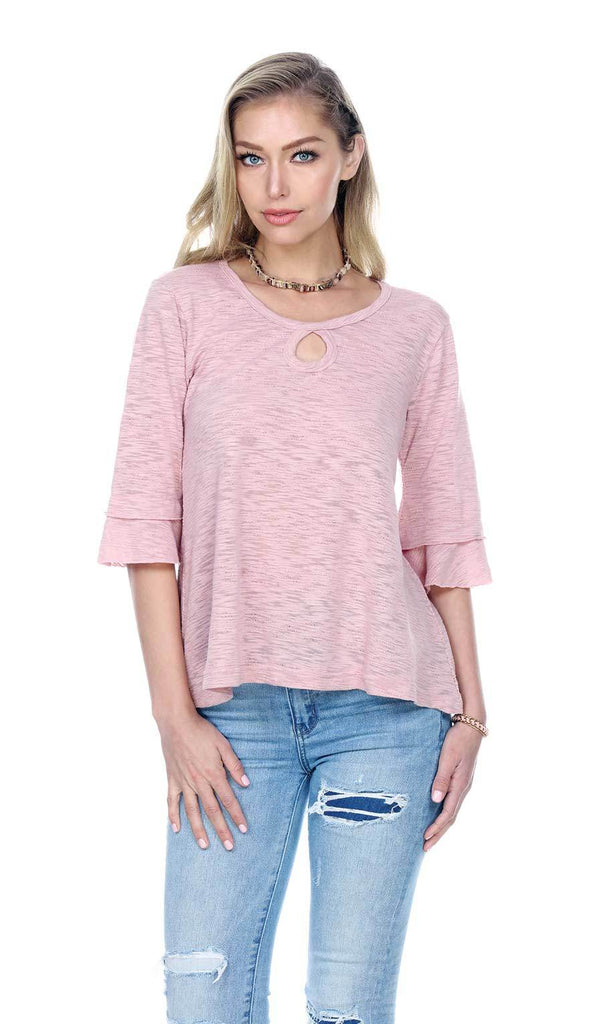 Key Hole w/ Bell Sleeve Top