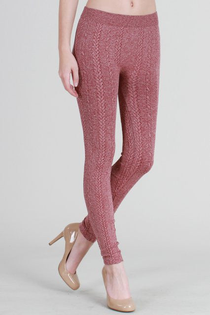 NikiBiki Braid Knit Leggings