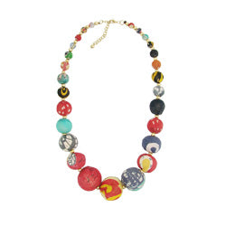 Big Fabric Bead Necklace