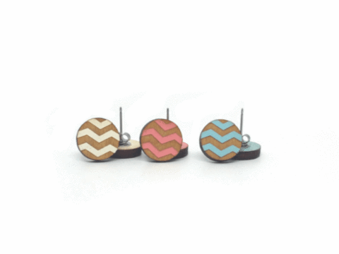Circle Chevron Earrings