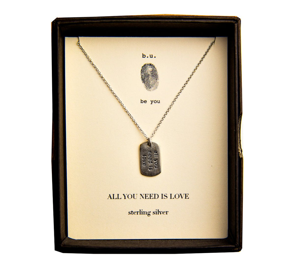Tiny Charm Necklace: All You Need is Love