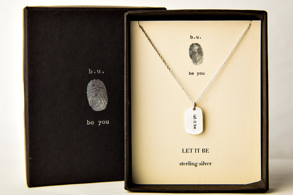 Tiny Charm Necklace: Let it Be