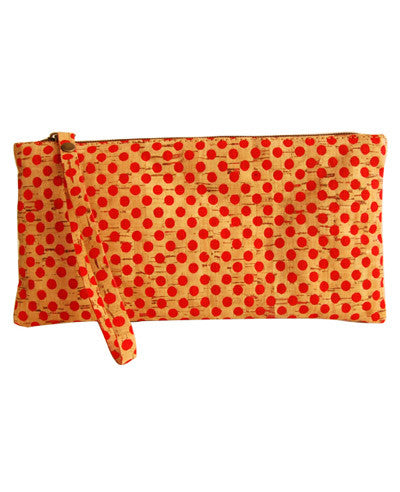 Cork Pochette Clutch Bag