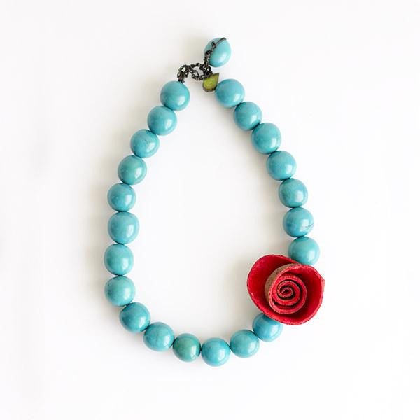 1 Rose Necklace
