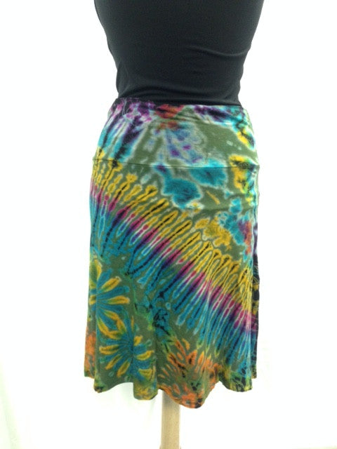 Tie Dye Mid-length Skirt