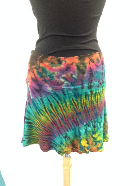 Tie-Dye Mini Skirt