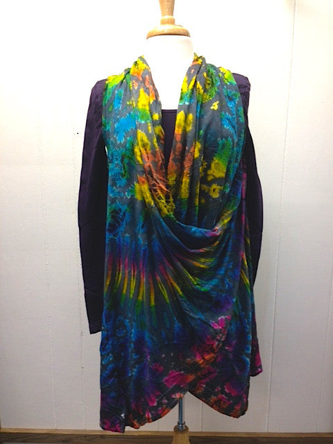 Long Tie-Dye Vest - can be worn 2 ways!