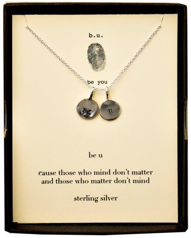 Tiny Charm Necklace: Be U