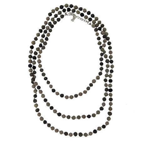 Kantha Noir Long Necklace