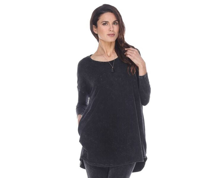 Rounded Bottom Tunic w/ Pockets