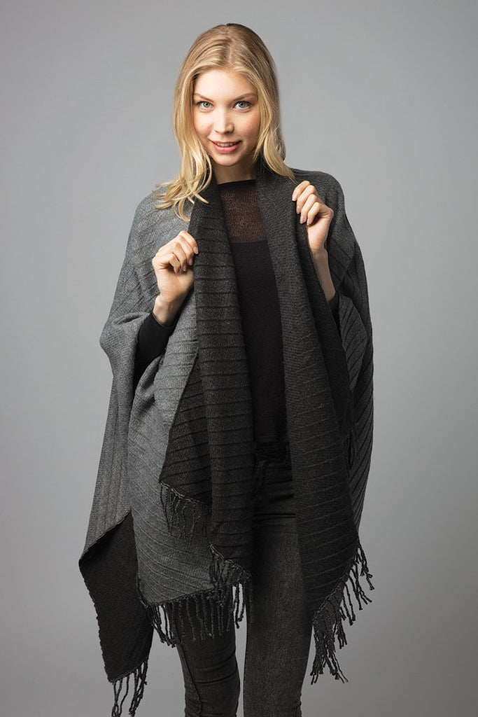 Woven Reversible Crankled Shawl