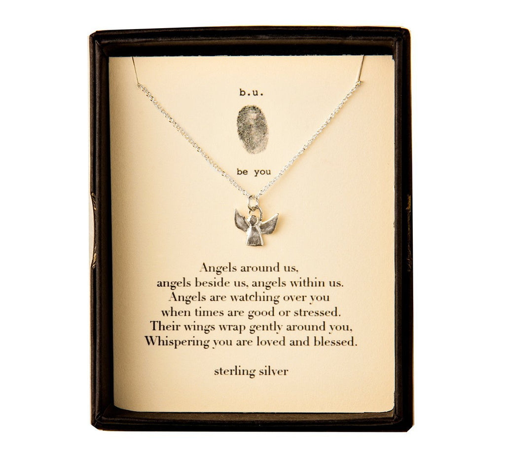 Tiny Charm Necklace: Angel