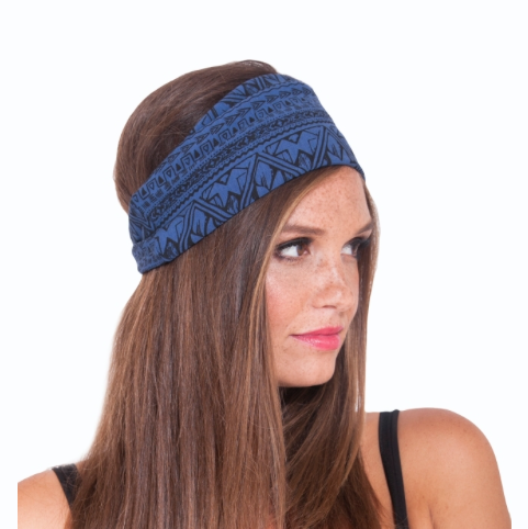 Organic Fleece Printed Headband