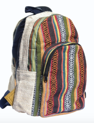 Hemp/Cotton Colorful Backpack