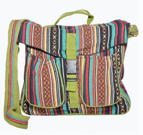 Multi Colored Messager Bag