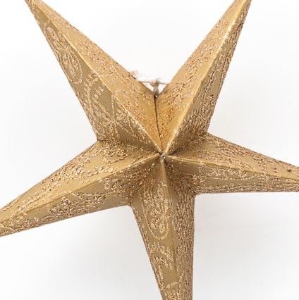 Golden Recycled Paper Lantern Mini Star Set