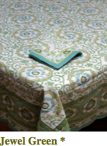 Block Printed Tablecloth
