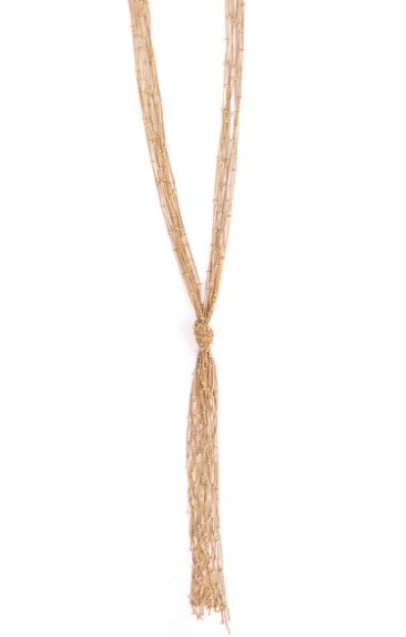 Knotted Fringe Necklace