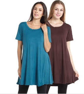 Short Sleeve Flare Tunic