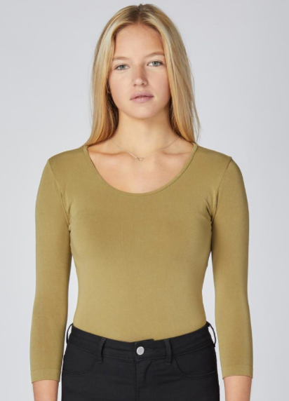 3/4 Sleeve Bamboo Layering Top