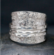 Sterling Silver Stone Stack Ring