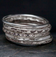 Hill Tribe Silver Stacking Ring Set
