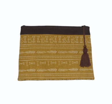 Mud Cloth Print Clutch