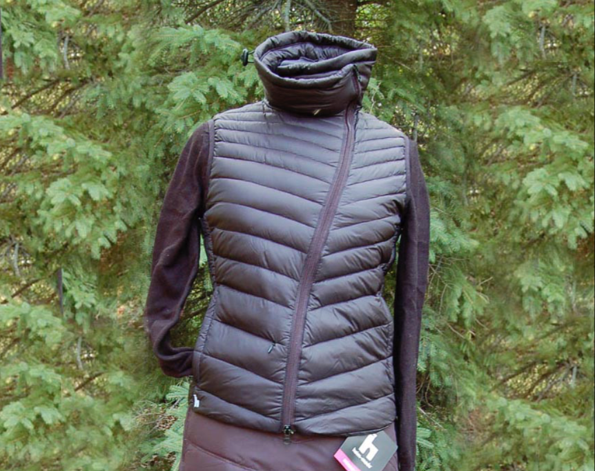 Down Vest w/ Asymmetrical Zipper