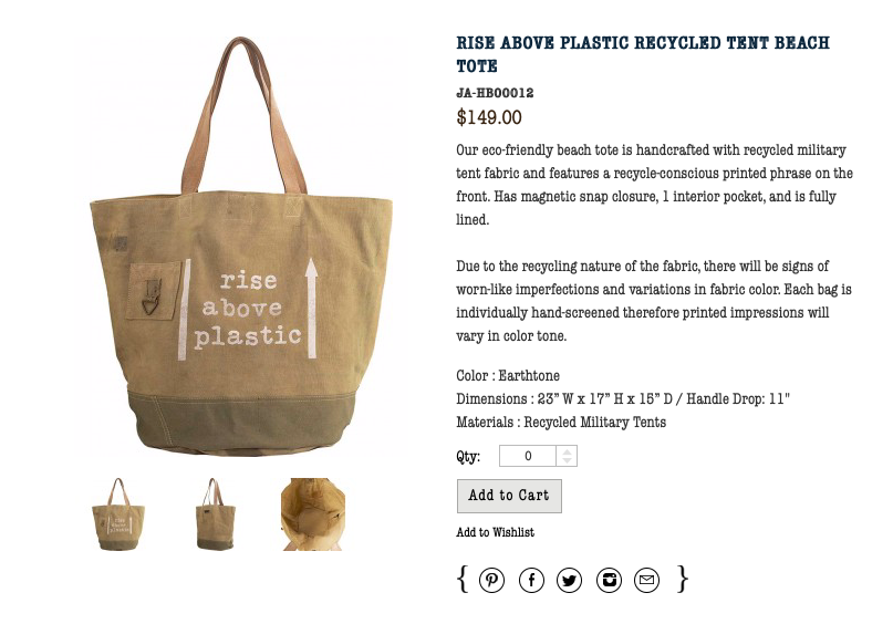 Rise Above Plastic Canvas Tote