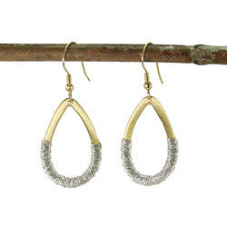 Threaded Teardrop Earrings