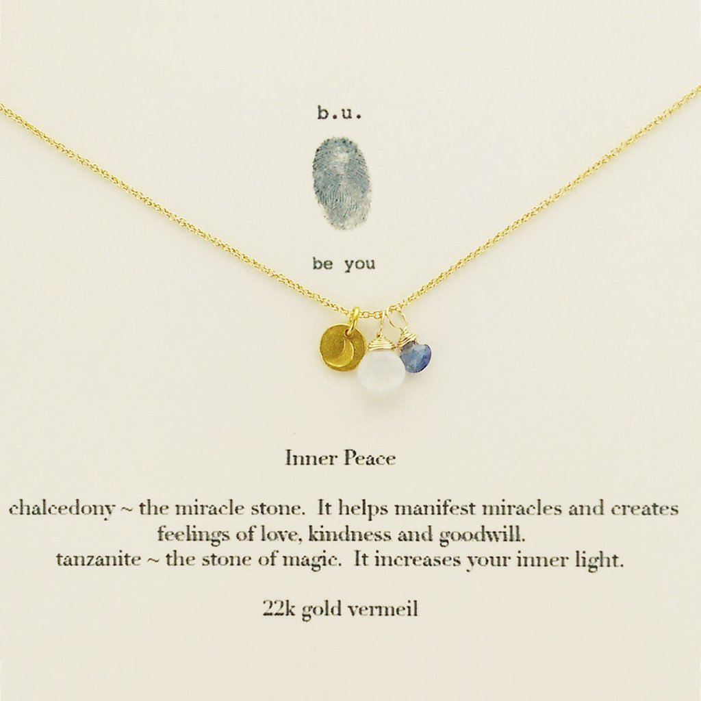 Tiny Charm Necklace: Inner Peace