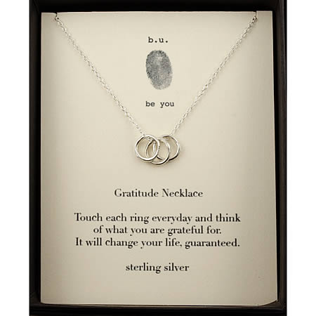 Tiny Charm Necklace: Gratitude