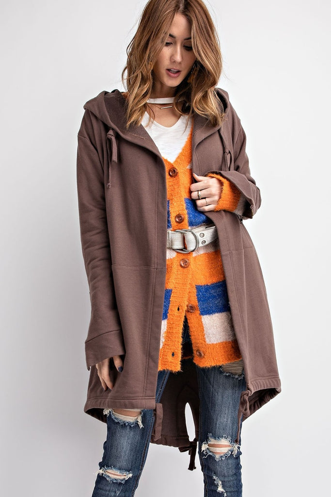 Oversized Open Hooded Coat
