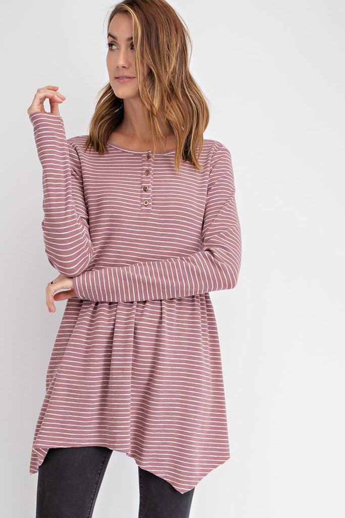 Babydoll Soft Stripe Top